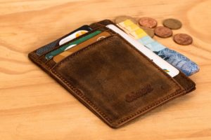 There is a card in the wallet