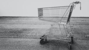 There is a shopping cart