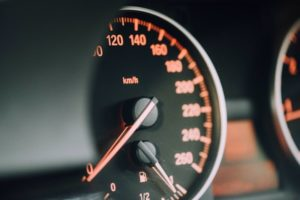 Car speedometer photo
