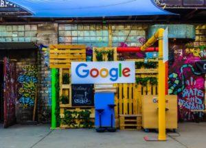 Scenery written as Google