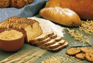 Bread and wheat are lined up