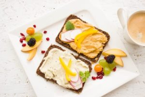 Two fruit toasts lined up