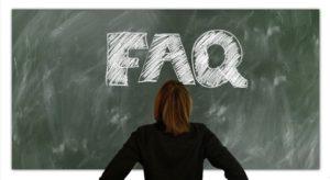 FAQ is written on the blackboard