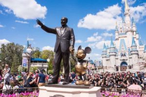 Statue of Mickey and Walt Disney