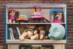 Toys on the shelves